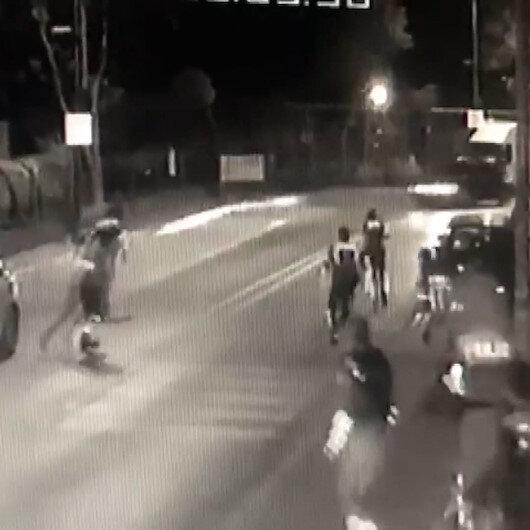 Avcılarda polise silahlı saldırı anı kamerada