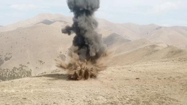 Bingöl'de PKK'ya ait toprağa gizlenmiş patlayıcı imha edildi