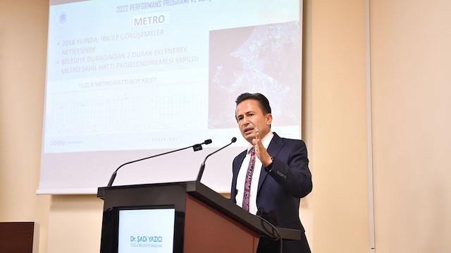 Tuzla Belediye Başkanı Şadi Yazıcı İBB'nin bitiremediği projelere ilişkin konuştu: Uyku modunda devam ediyorlar