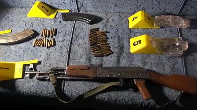 DHKP-C operasyonunda kalaşnikof tüfek ele geçirildi
