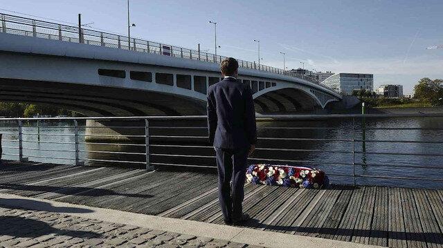 Fransa tarihinde bir ilk: Macron yüzlerce Cezayirlinin öldürüldüğü katliamın yıl dönümünü törenine katıldı