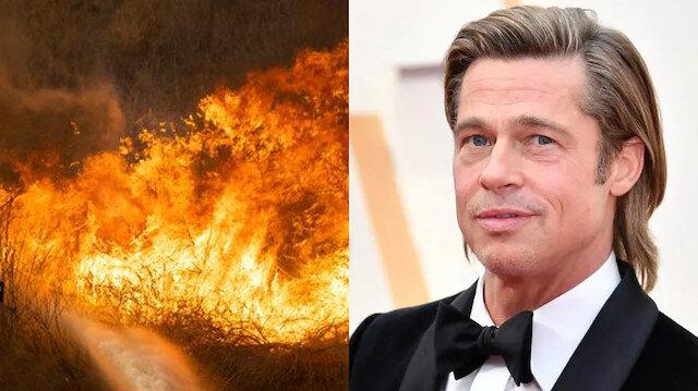 Kalifornia'da yangın: Brad Pitt'in evini de tehlike altında