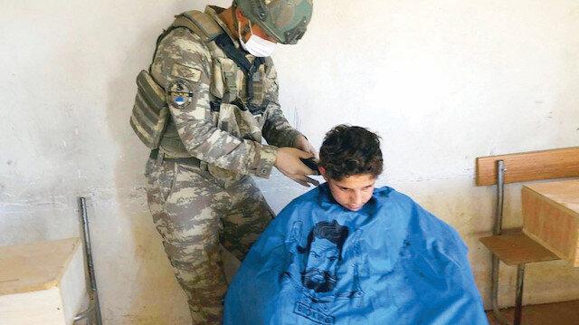 Asker tıraşı: Mazlum neredeyse Mehmetçik orada