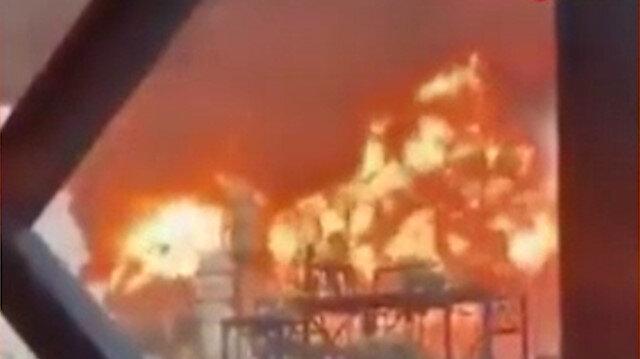Kuveyt'te petrol rafinerisi alev alev yandı