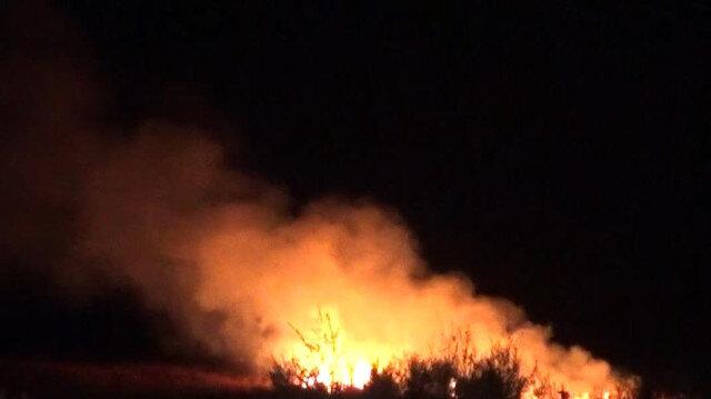 Konya'da sazlık alanda çıkan yangın söndürüldü