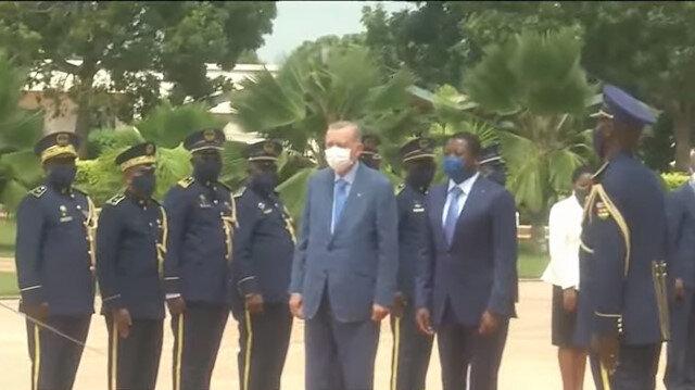 Cumhurbaşkanı Erdoğan Afrika programının ikinci durağı Togo'da