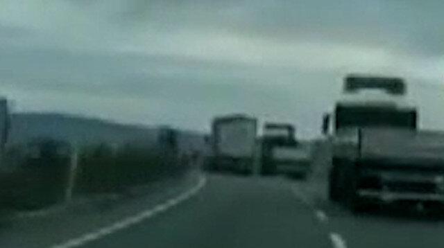 Ankara'da TIR şoförlerinin inatlaşması kaza getirdi