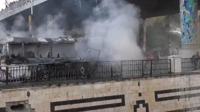 Şam'da askeri araca bombalı saldırı: 13 ölü