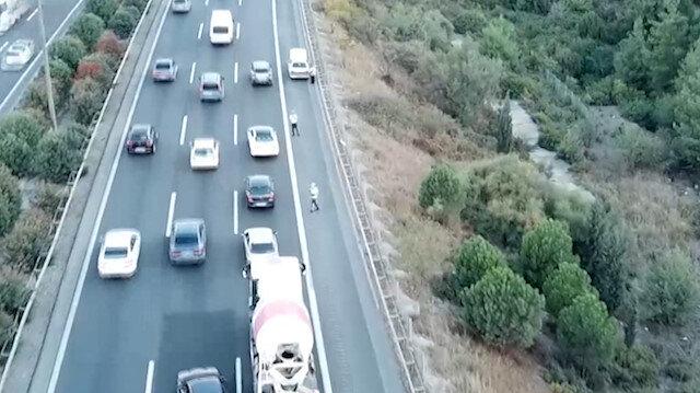 İzmir'de trafik kurallarına uymayanlar drone ile yakalandı