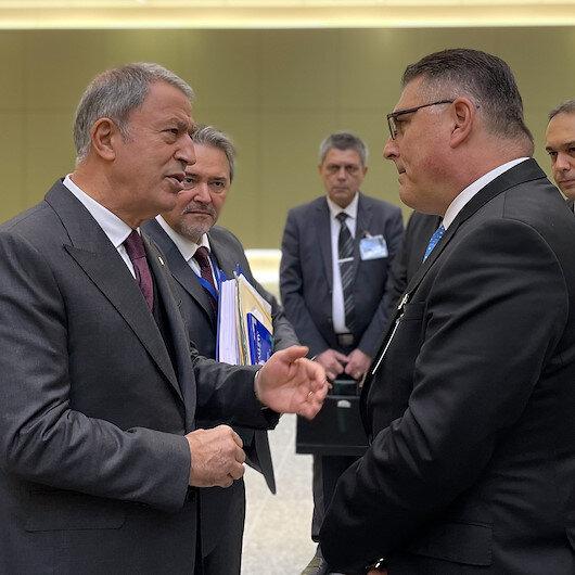 """أكار يشارك في أعمال اليوم الثاني لاجتماع وزراء دفاع """"الناتو"""""""