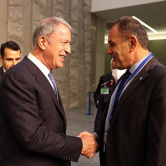 وزير الدفاع التركي يلتقي نظيره اليوناني في بروكسل