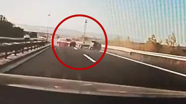 Hadımköy'de yarışan arabalar kazaya neden oldu: O anlar kamerada