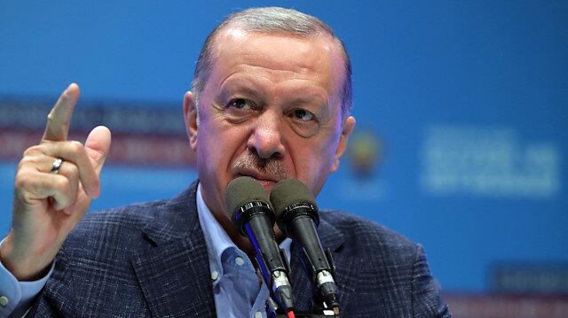 Cumhurbaşkanı Erdoğan: Türkiye'de huzurun barışın kalkınmanın istikrarın teminatı AK Parti ve Cumhur İttifakı'dır