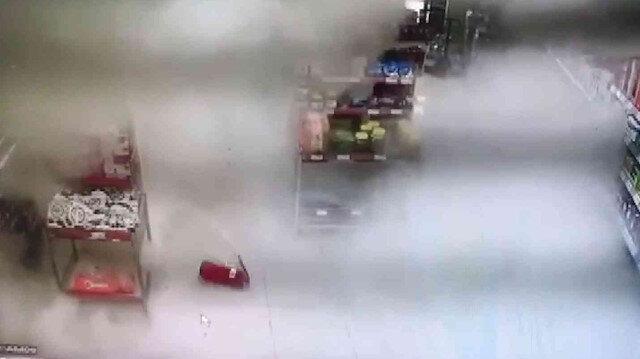 Bursa'da yangın tüpü düştü savaş alanına döndü