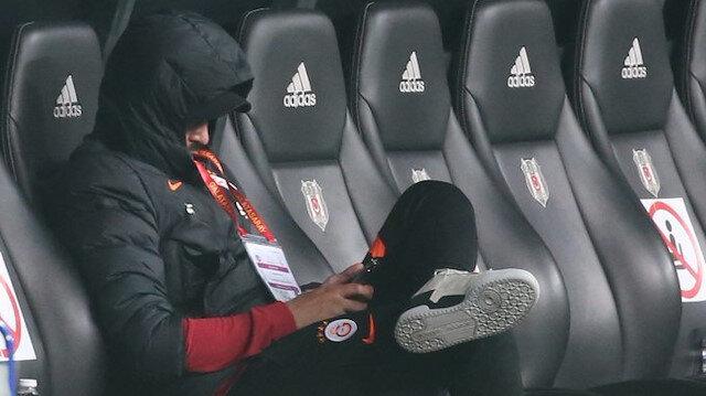 Derbide Galatasaray'ın yedek kulübesinde dikkat çeken detay