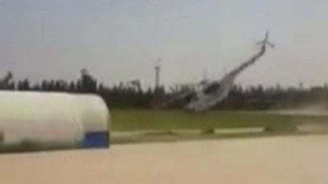Libya'da para dolu helikopter iniş sırasında düştü