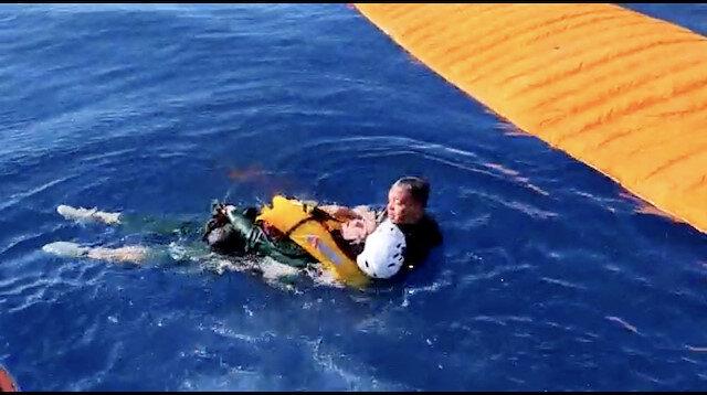 Fethiye'de denize düşen Ukraynalı kadın yamaç paraşütü pilotu kurtarıldı
