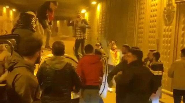 Ataşehir'de tüneli kapatarak asker eğlencesi yaptılar