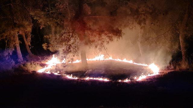 Kumluca'da 3 ayrı yerde aynı anda orman yangınları çıktı