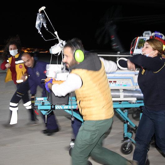 Van'da polis helikopteri yeni doğan bebek için havalandı