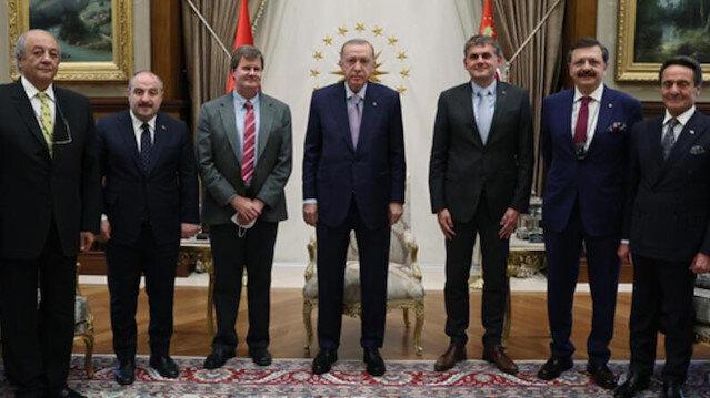 Cumhurbaşkanı Erdoğan TOGG'un bataryasını üretecek SiRo'nun heyetini kabul etti