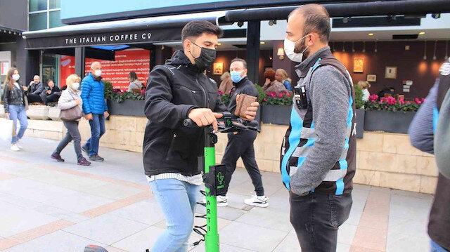 Megakentte elektrikli scooter denetim bilançosu: 86 kişiye toplam 30 bin 932 lira ceza