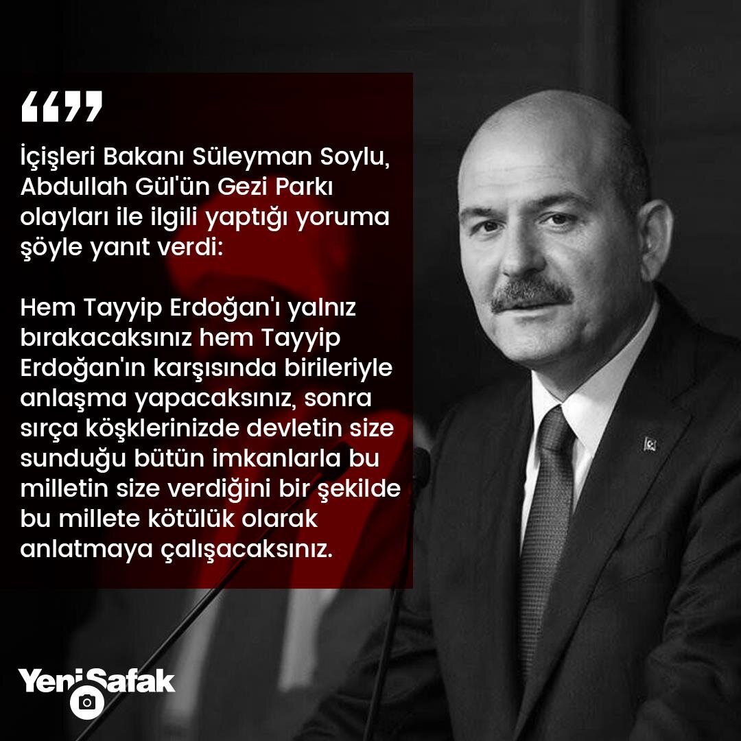 Süleyman Soyludan Abdullah Gül hakkında dikkat çeken açıklama: İçime hançer gibi saplandı