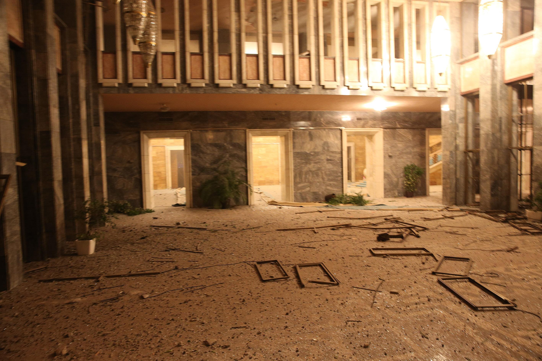 TBMM binasında büyük bir zarar meydana geldi.
