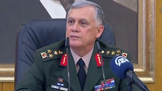 General Ümit Dündar arranged a press conference