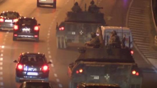 Tanks set off with ammunition