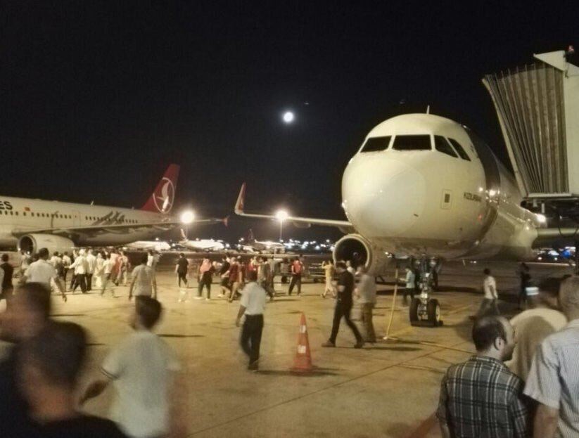 Many entered the apron from the terminal.