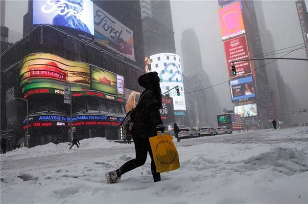 The U.S. states of North Carolina, Tennessee, Maryland, Pennsylvania, Georgia, Virginia, West Virginia and New Jersey have declared states of emergency due to blizzards.