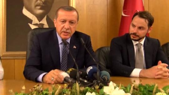 Эрдоган провёл пресс-конференцию в аэропорту