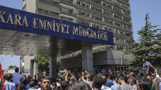 Captured putschists were brought to Ankara Police Headquarters