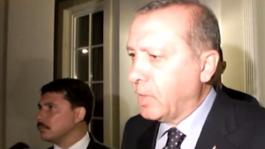 President Erdoğan's first statement regarding the coup