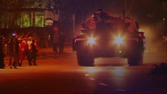 Противостояние в Анкаре с Турецкими флагами