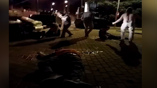 Gory footage of the wounded from the night of July 15