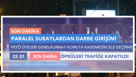 The public learned of the coup attempt from TVNET