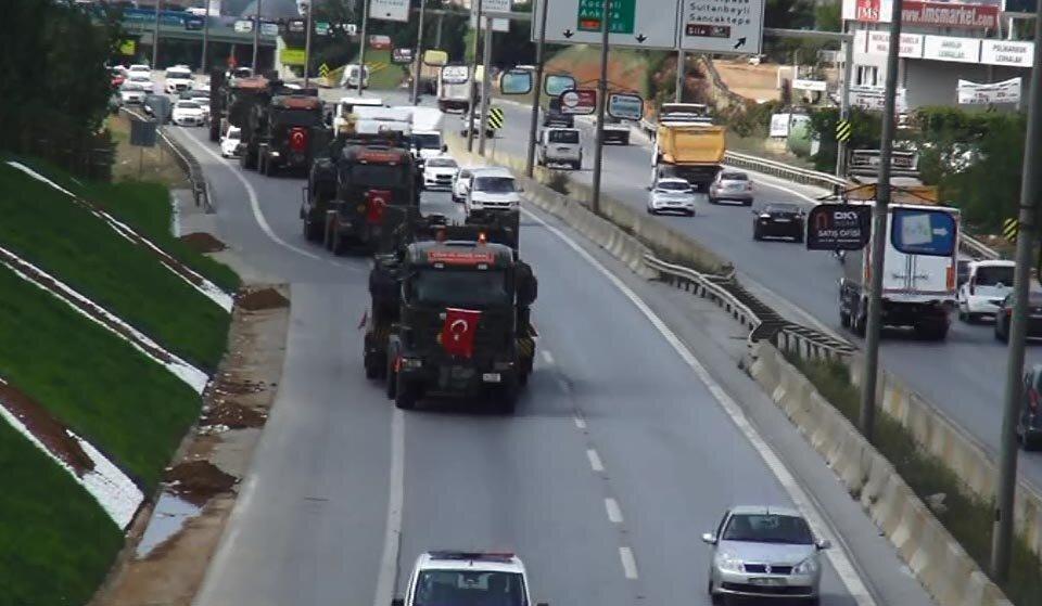 Sabiha Gökçen havalimanındaki tanklar birliklerine götürüldü