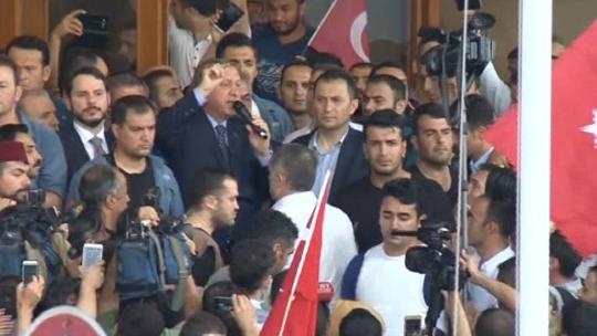 Erdoğan's second statement at the airport