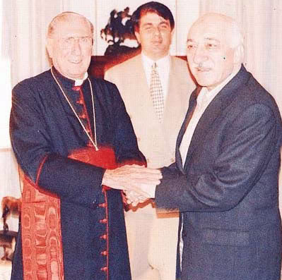 """In September 1997, Gülen traveled to New York and met with New York Cardinal John O'Conner, one of the most important cardinals of the Catholic world. About the meeting, Gülen said, """"We're getting along with the Jewish Community. We met with Bartholomeus. After our meeting with him, he visited the U.S. and told Cardinal (O'Connor) about it so we got the chance to meet with him."""" Gülen said he has been in contact with the Jewish community and that they said, """"We will support the schools you will open in the U.S."""""""