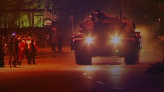 Ankara'da Türk bayraklı direniş