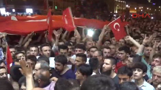 Konya people one voice, one heart against the coup!