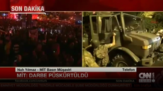 Turkey's National Intelligence Organization announces coup has been repelled