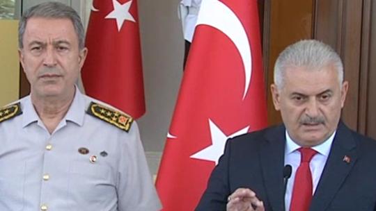 Başbakan Yıldırım, Çankaya Köşkü'nde açıklama yaptı