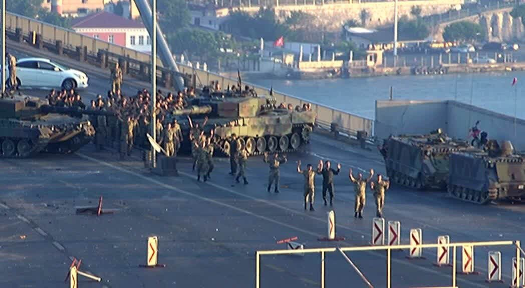 12All soldiers who occupied the Bosporus Bridge during the July 15 coup attempt surrendered. The bridge was renamed the July 15 Martyrs Bridge with a Cabinet decree on July 25.
