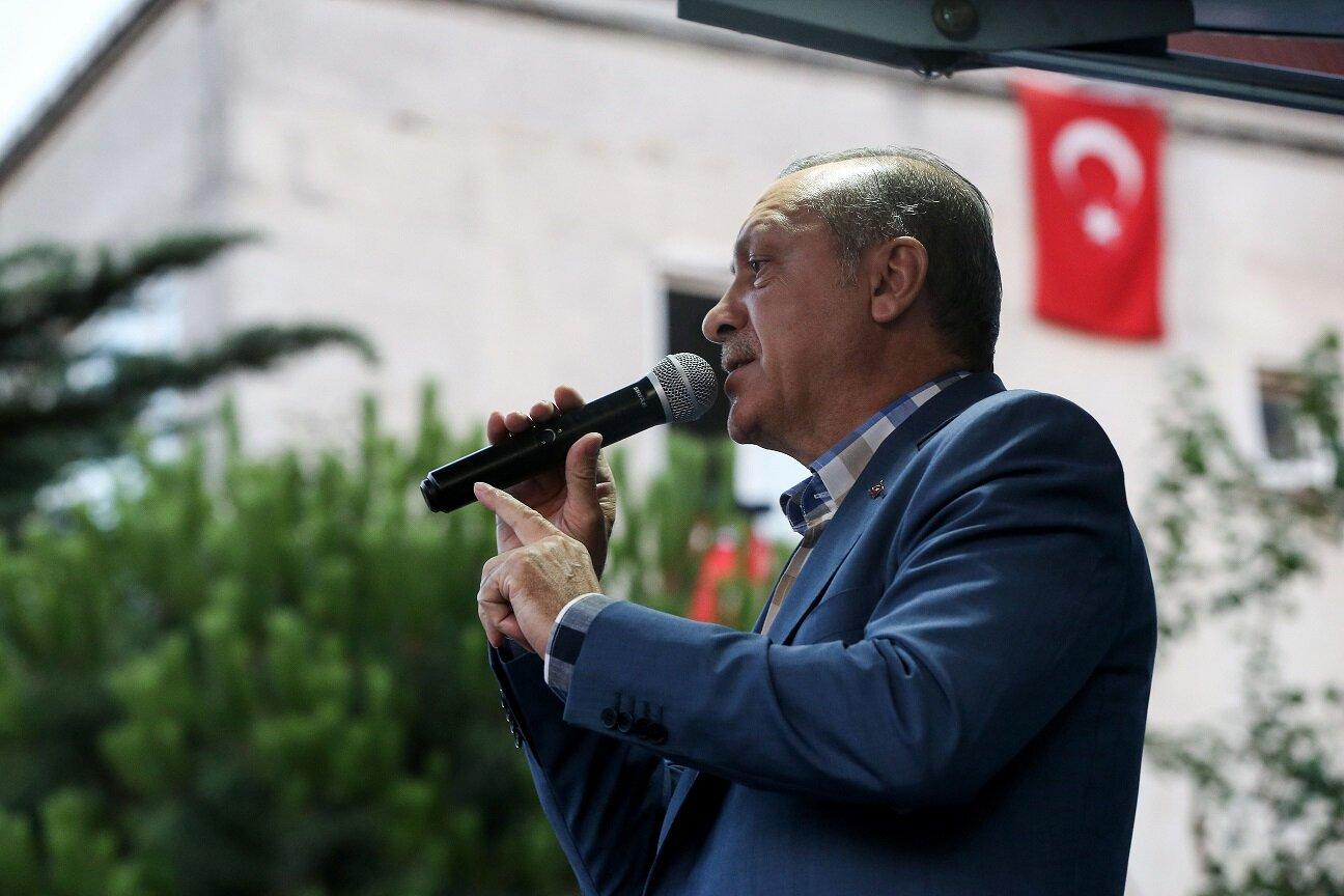 President Erdoğan addressed the crowd that had gathered in Kısıklı, Üsküdar to show their reaction to the FETÖ coup attempt.