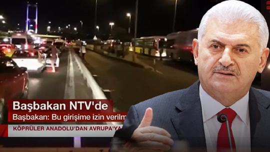 PM Yıldırım on NTV