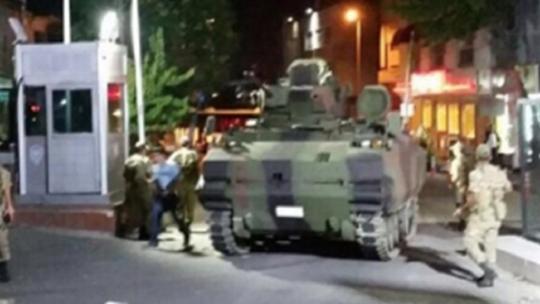 Нападение на полицейский участок посредством танков